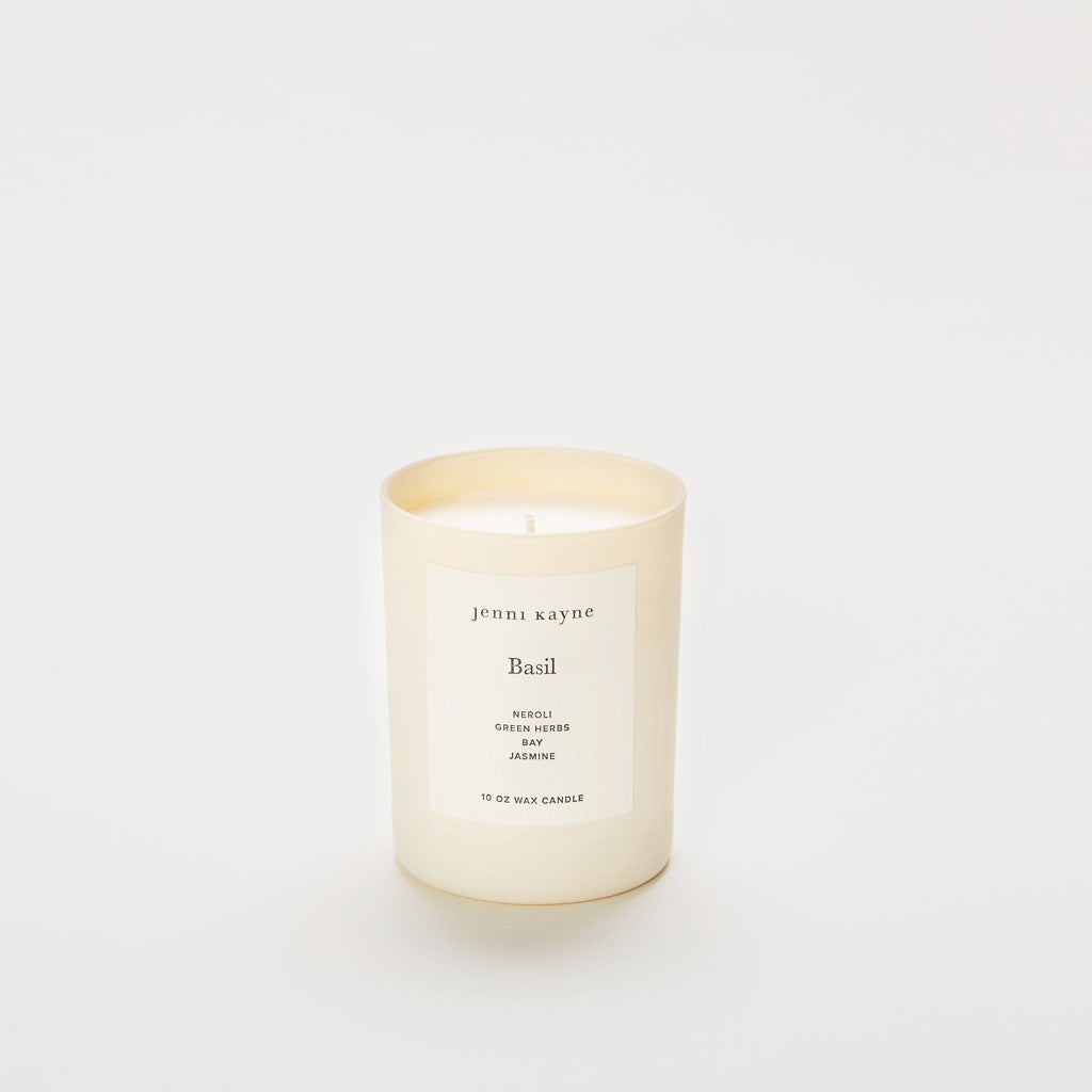 Basil Matte Glass Candle
