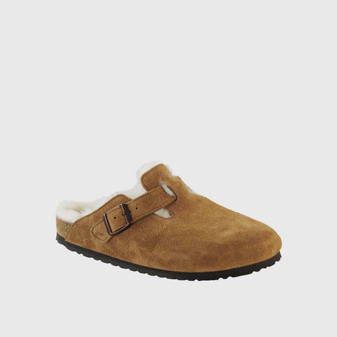 Boston Shearling Clog - Mink Suede