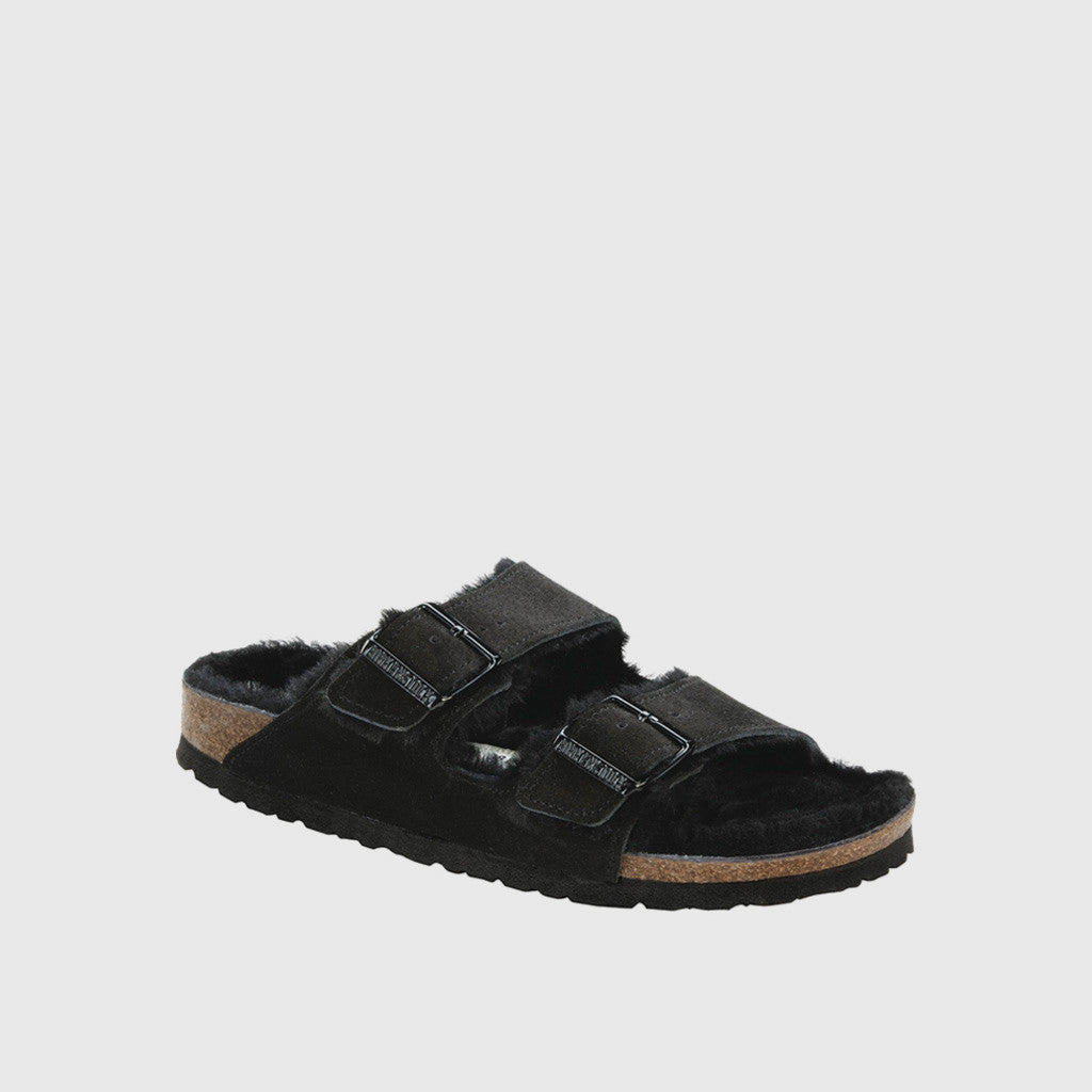 Arizona Shearling Sandal - Black