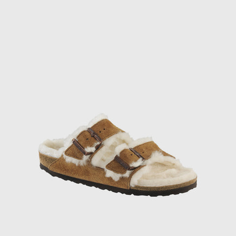 Arizona Shearling Sandal - Mink