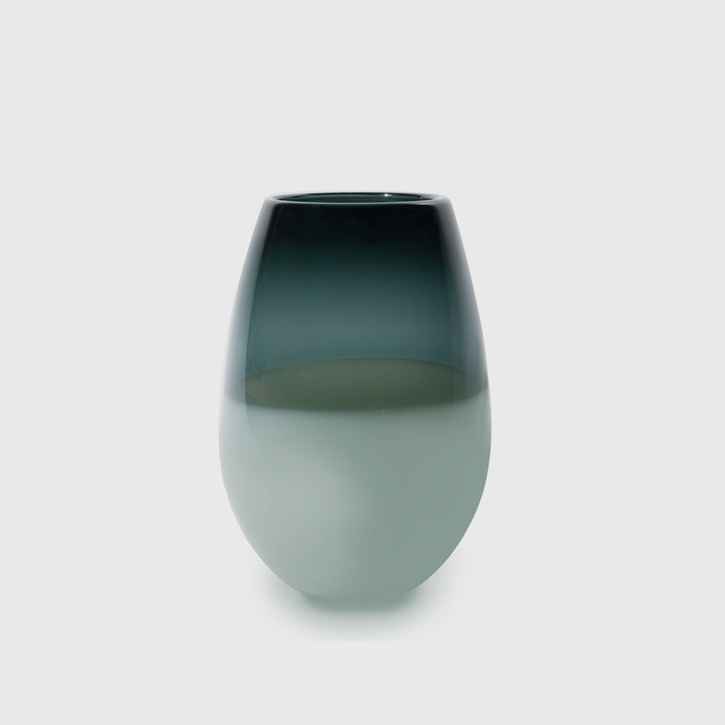 Banded Barrel Vase - Grey/Neutral Grey