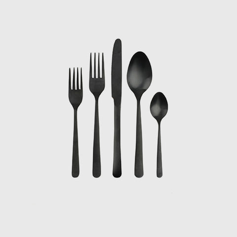 Oslo Cutlery Set of 4 - Matte Black