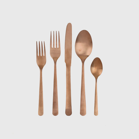 Oslo Cutlery Set of 4 - Matte Copper