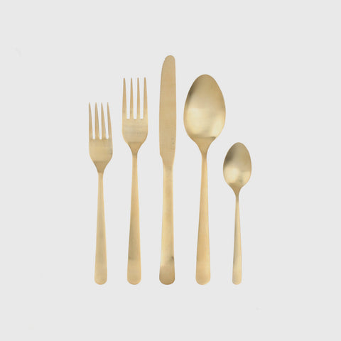 Oslo Cutlery Set - Matte Gold