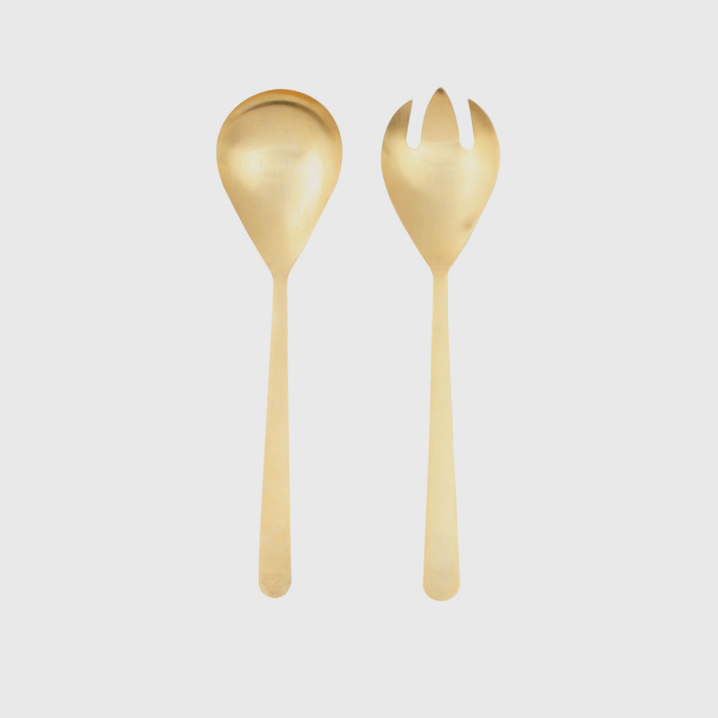 Oslo Salad Server - Gold