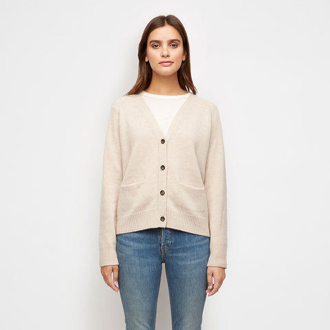 Stanford Cashmere Cardigan - Oatmeal