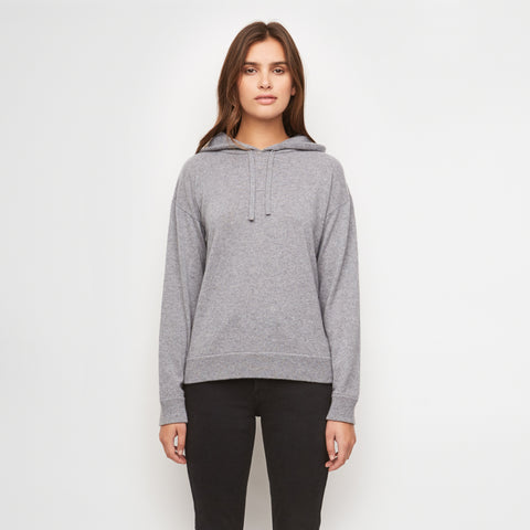 Cashmere Hoodie - Light Grey