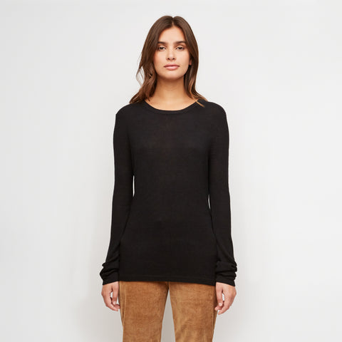 Cashmere Thermal Crewneck - Black