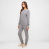 Cashmere Thermal Crewneck Top - Grey