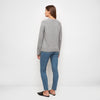 Cashmere V-Neck Cardigan - Light Grey