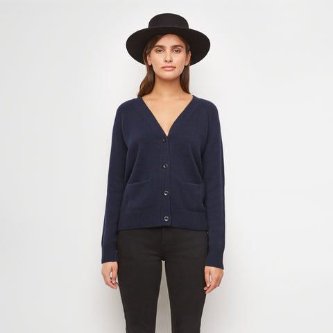 Stanford Cashmere Cardigan - Navy