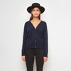 Cashmere V-Neck Cardigan - Navy