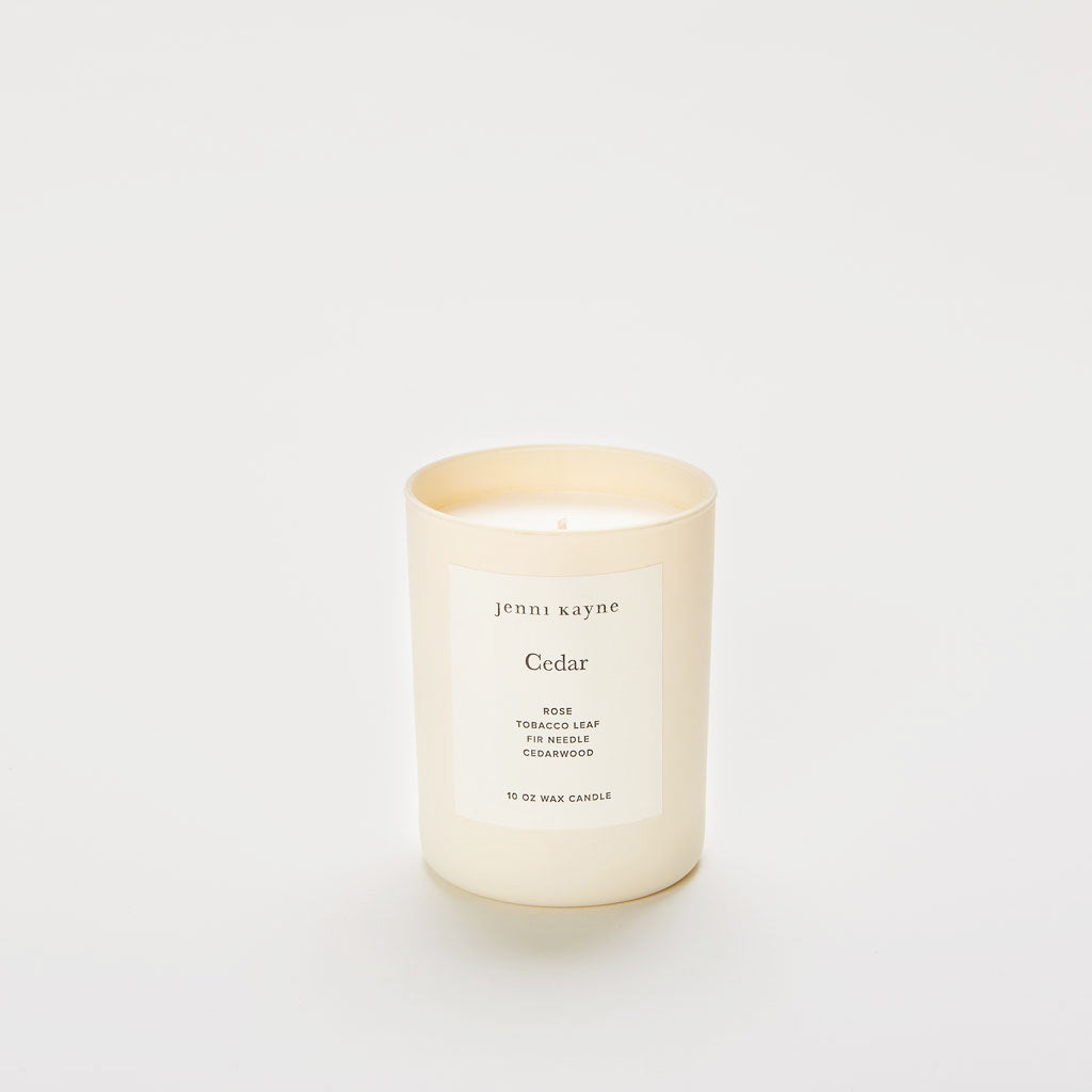 Cedar Matte Glass Candle