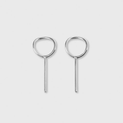 O Earrings - Sterling Silver
