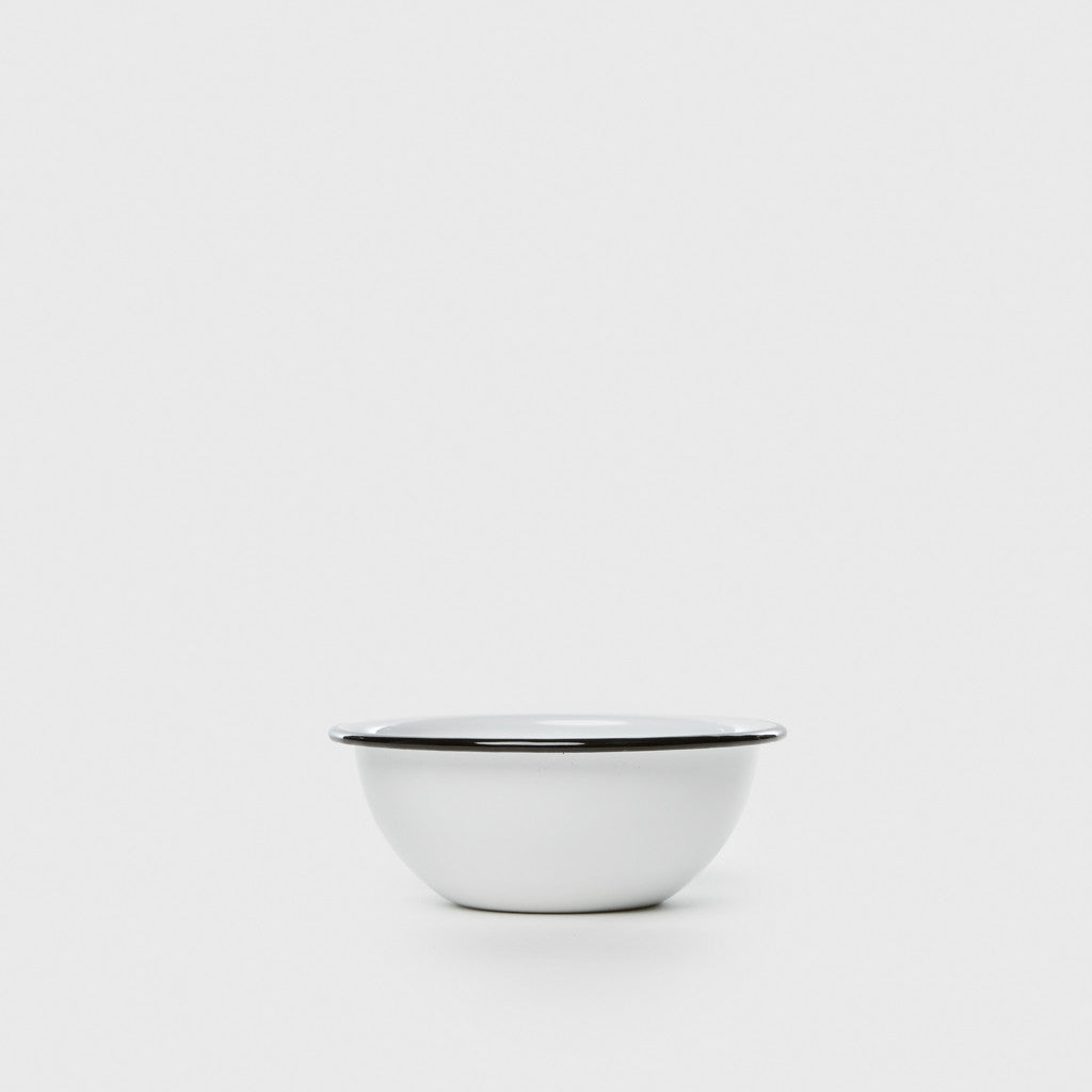 Enamel Cereal Bowl - White/Black
