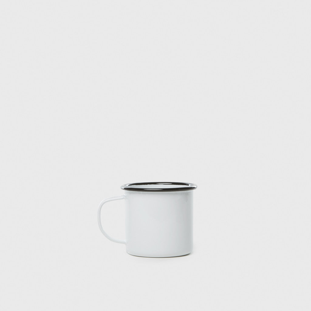 Enamel Mug - White/Black