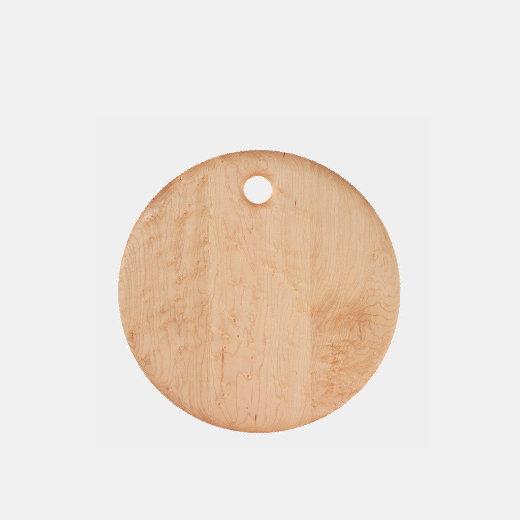 Bird's Eye Maple Round Cutting Board - 14""