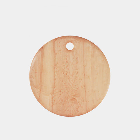 Bird's Eye Maple Round Cutting Board - 16""