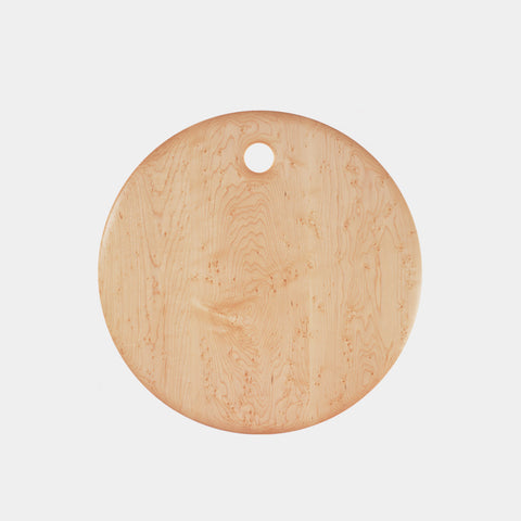Bird's Eye Maple Round Cutting Board - 20""