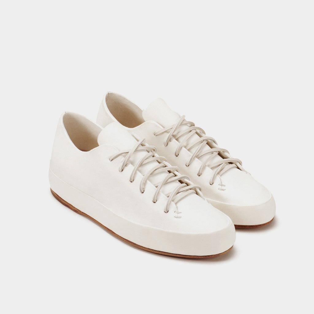 Hand Sewn Low Sneaker - White