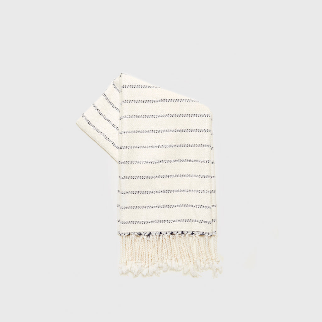 Turkish Hand Towel - Navy/Ivory