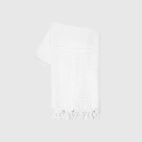 Turkish Hand Towel - White