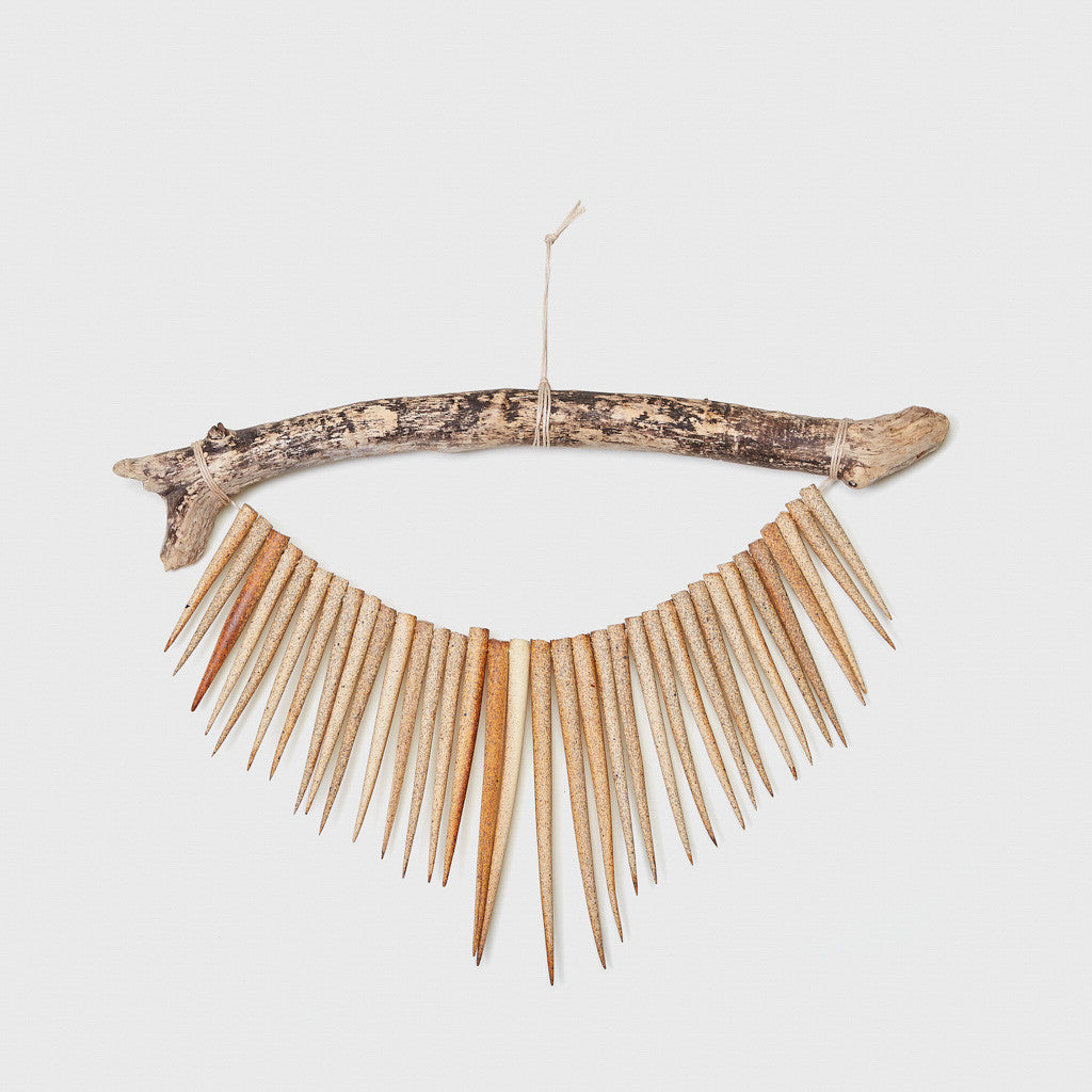 Branch with Spikes Ceramic Wall Hanging