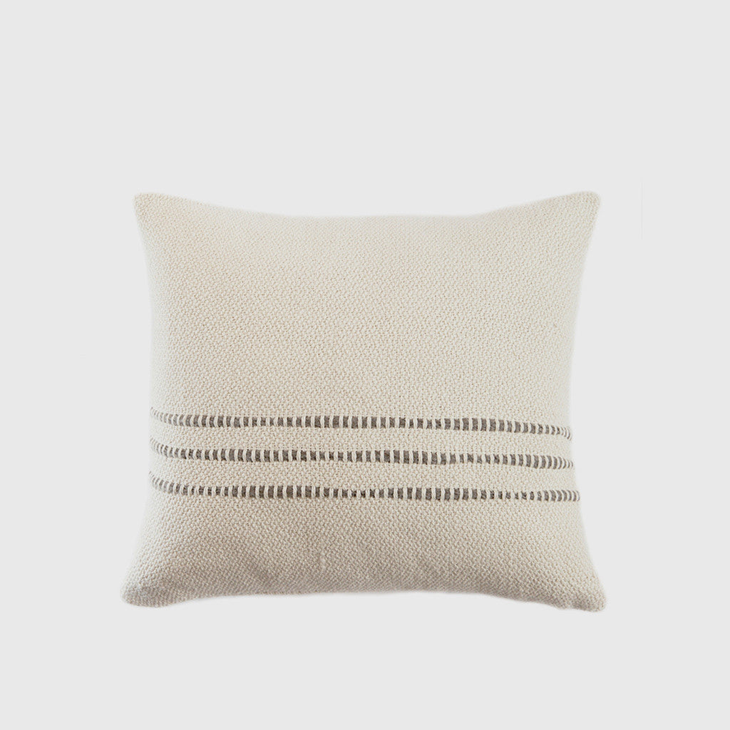 Grey Striped Pillow - 24x24""