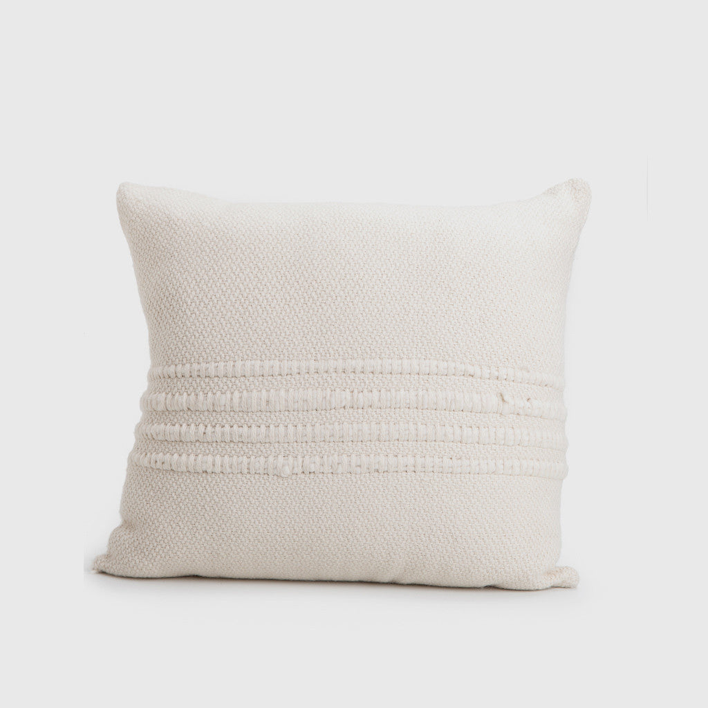 Natural Wool Striped Pillow