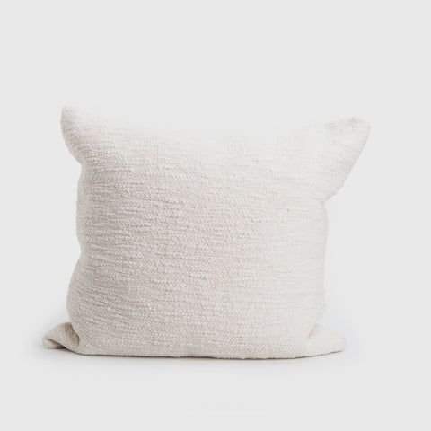 Rustic Cotton Textured Pillow - Natural
