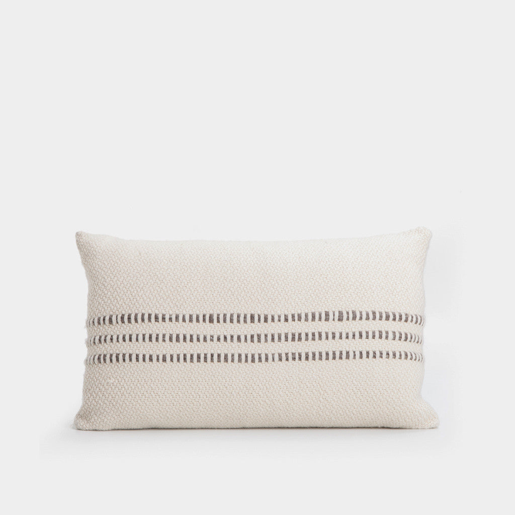 Grey Striped Pillow - 16 x 24""