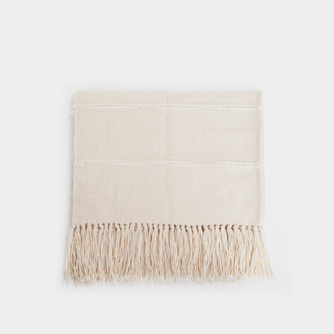Natural Striped Throw Blanket