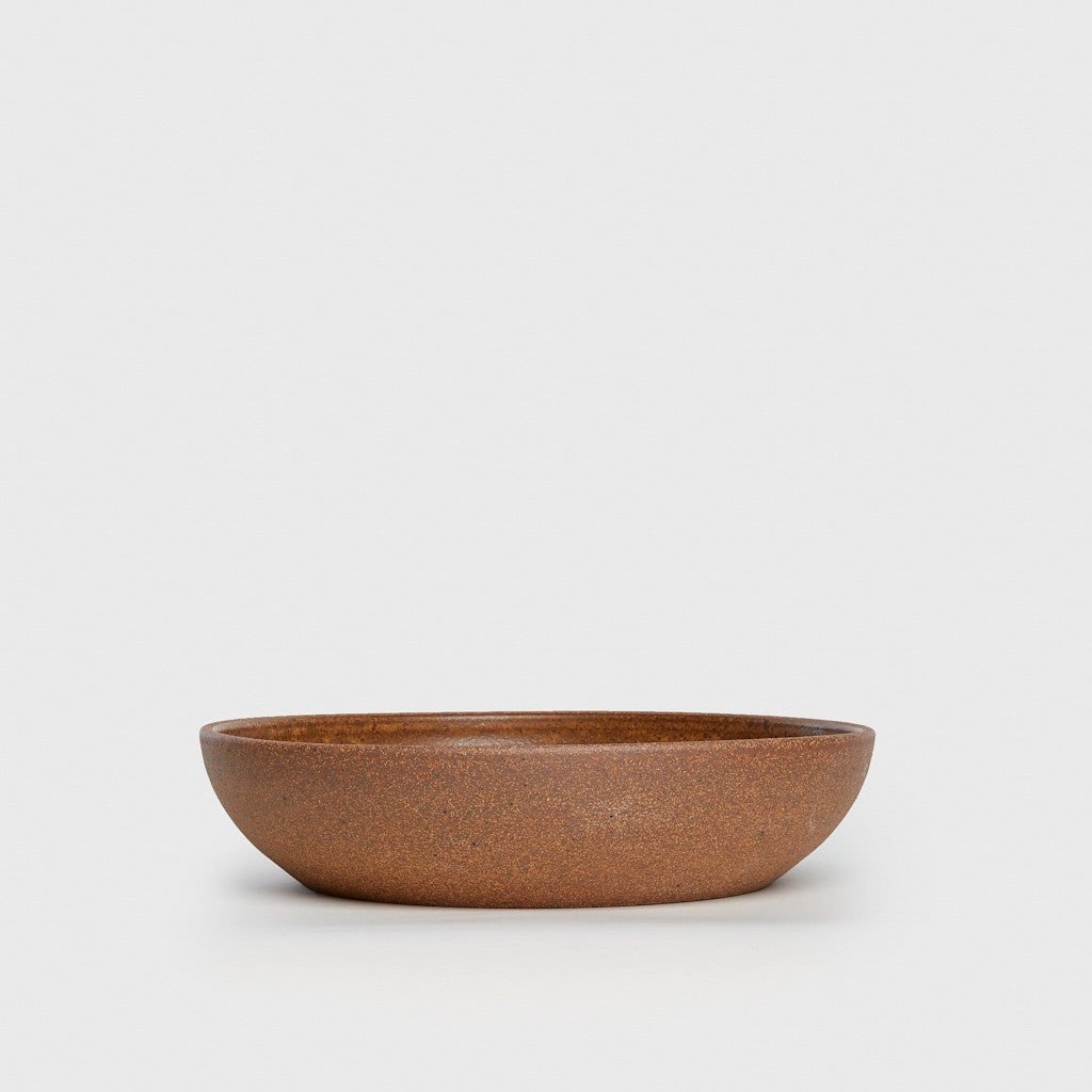 Serving Bowl - Mottled Brown