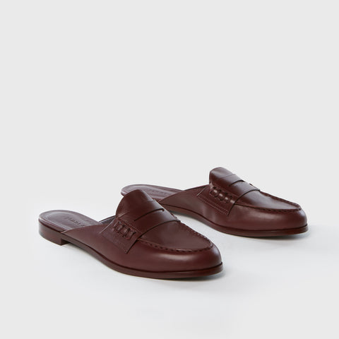 Loafer Mule - Bordeaux Leather