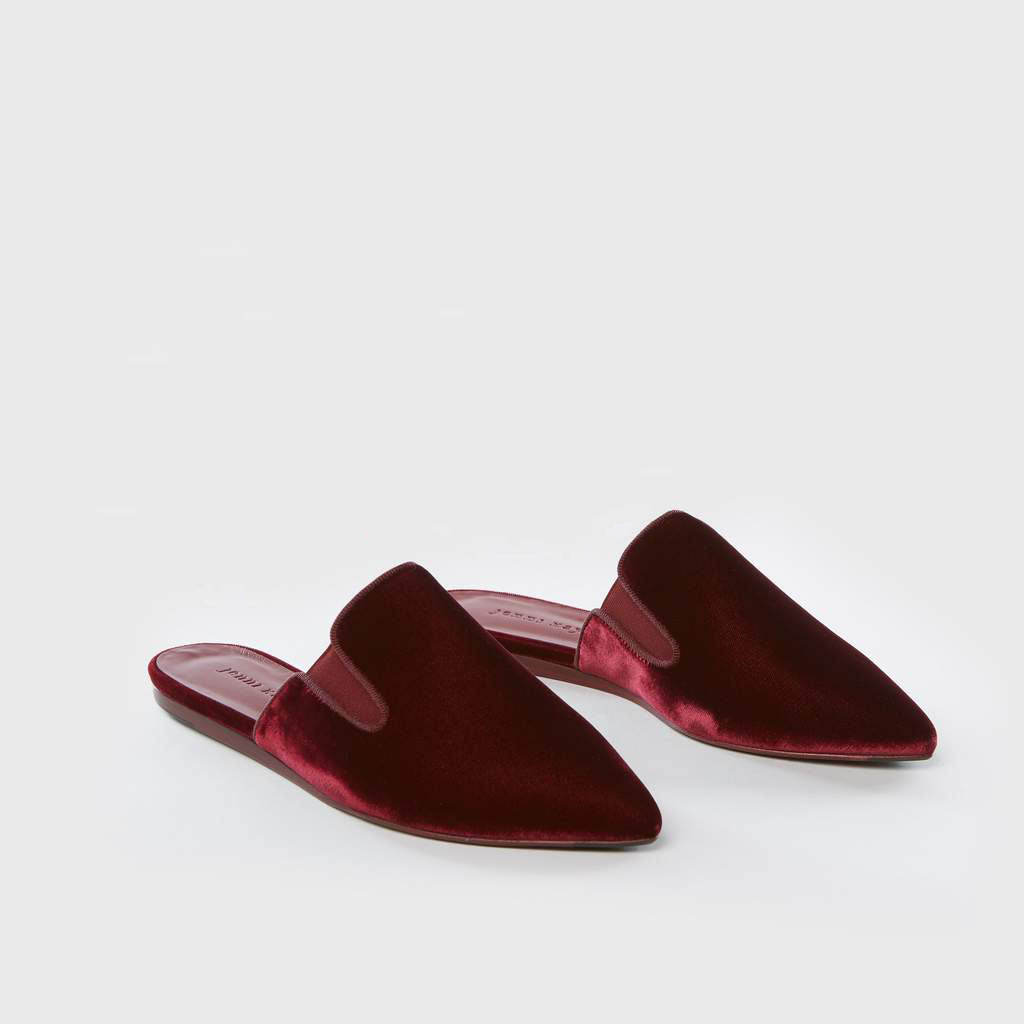 Mule Slide - Bordeaux Velvet