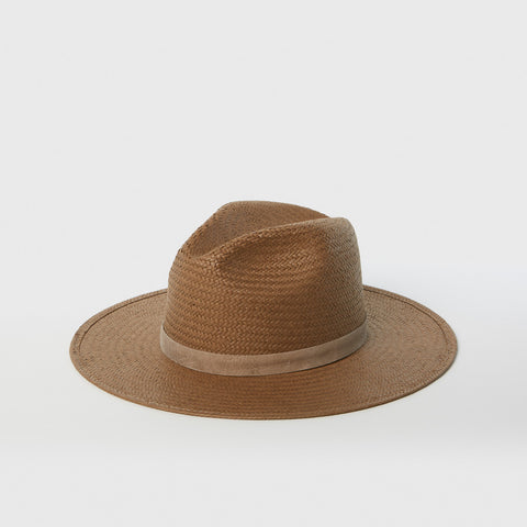 Adriana Fedora Hat - Brown