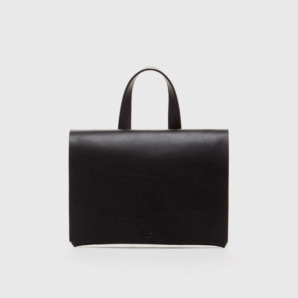 Grace Clutch Bag - Black Leather