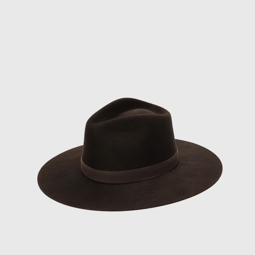 Isla Hand Polished Wool Felt Hat - Beaver - Final Sale