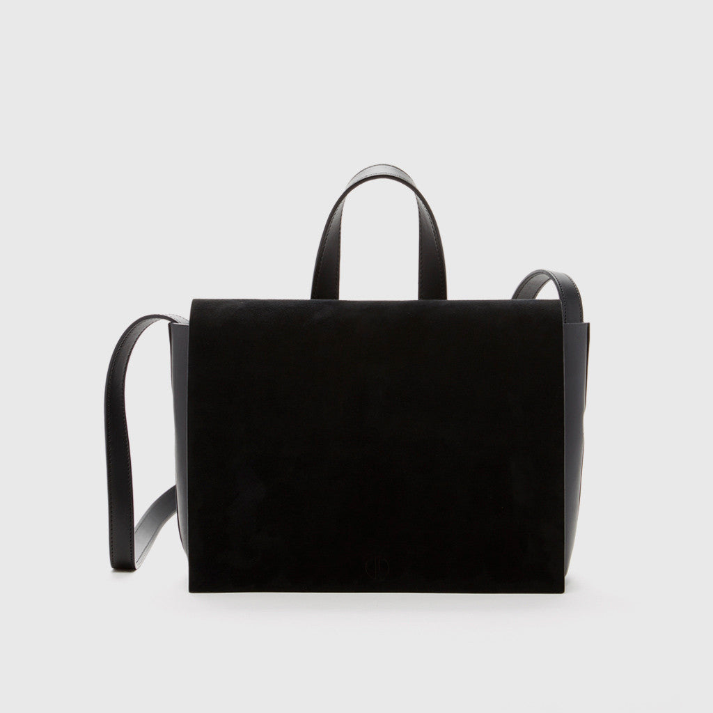 Joan Crossbody Bag - Black Suede - Final Sale