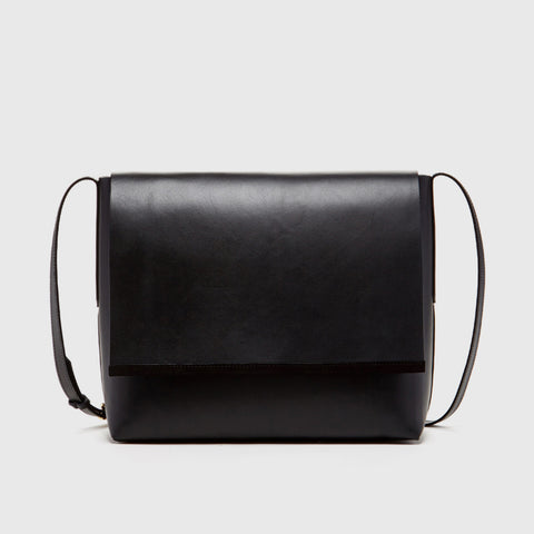 Virginia Messenger Bag - Black Leather - Final Sale