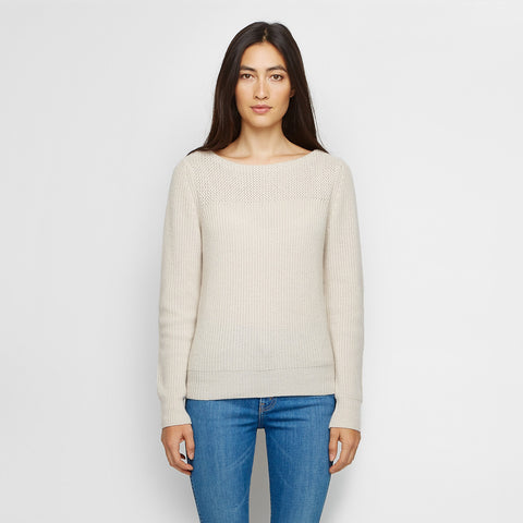 Cashmere Boatneck Sweater - Wheat