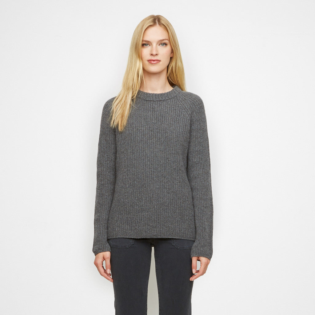 Cashmere Fisherman Sweater - Grey