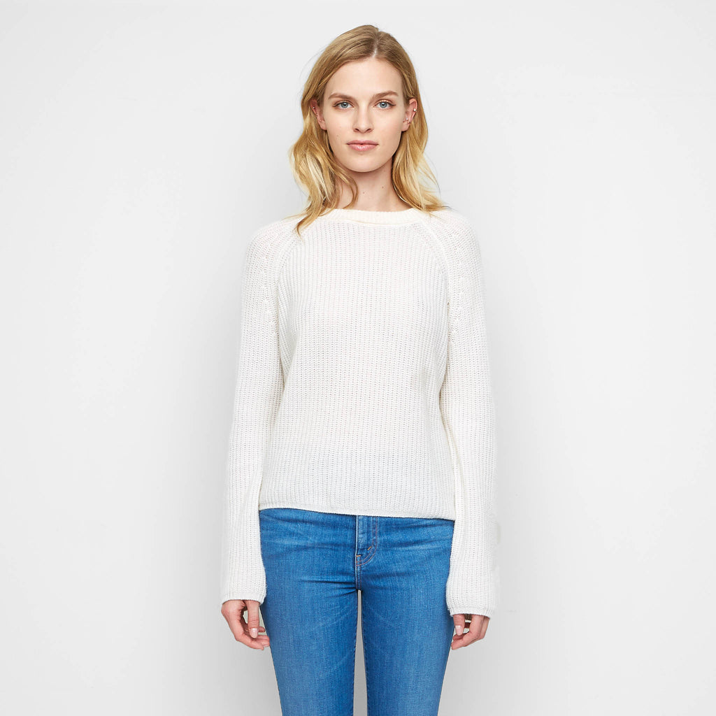 Cashmere Fisherman Sweater - Ivory