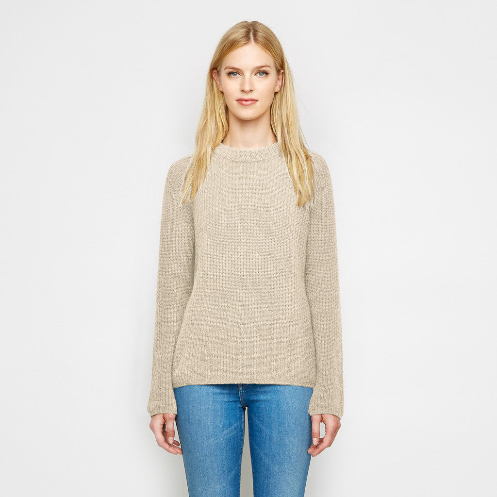 Cashmere Fisherman Sweater - Oatmeal