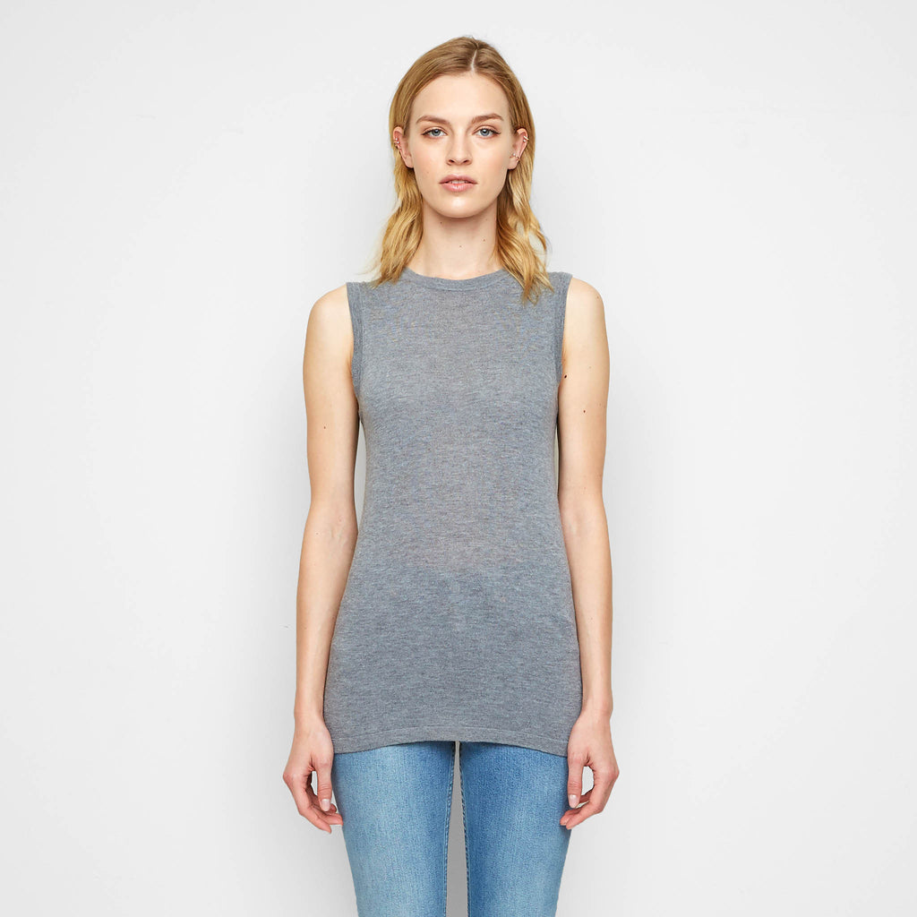 Cashmere Jersey Shell - Grey