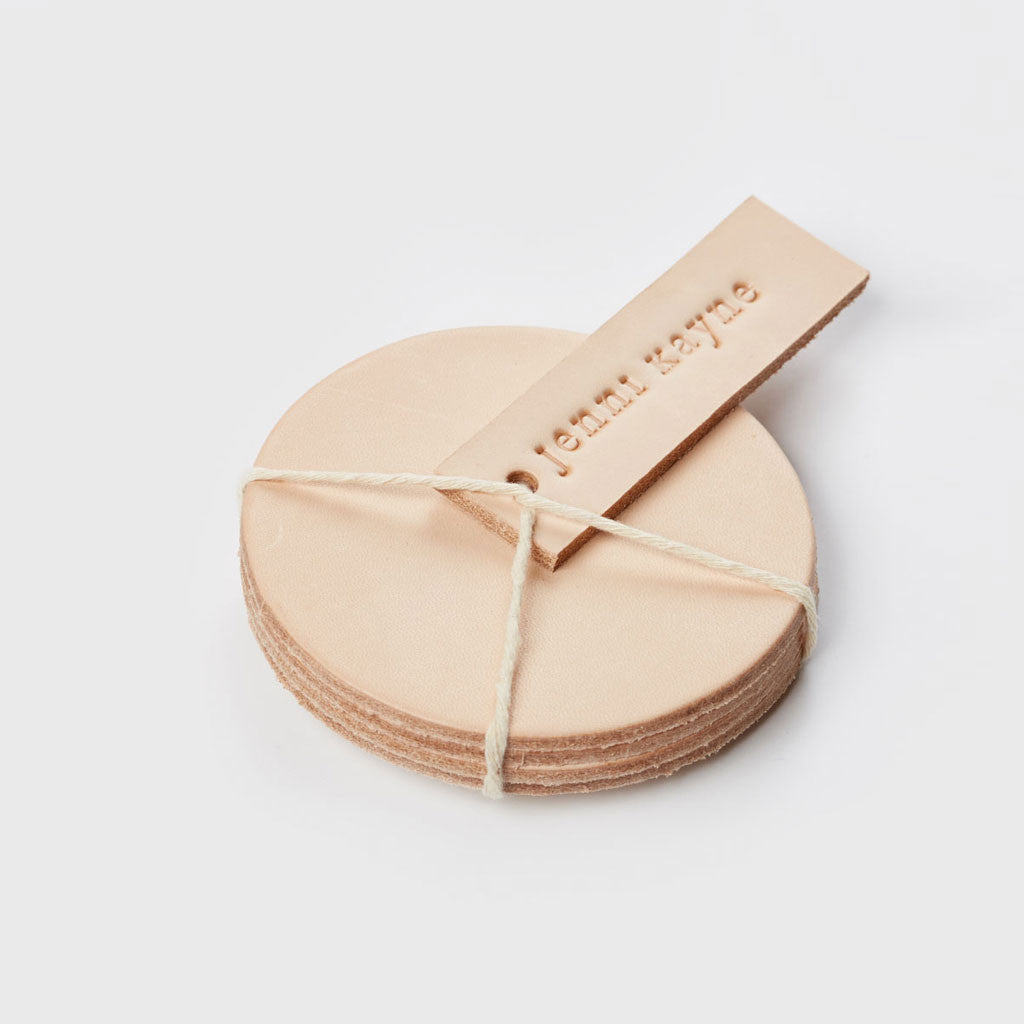 Leather Coasters - Natural