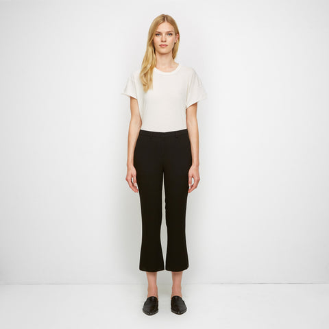 Crepe Cropped Flare Pant - Black - Final Sale