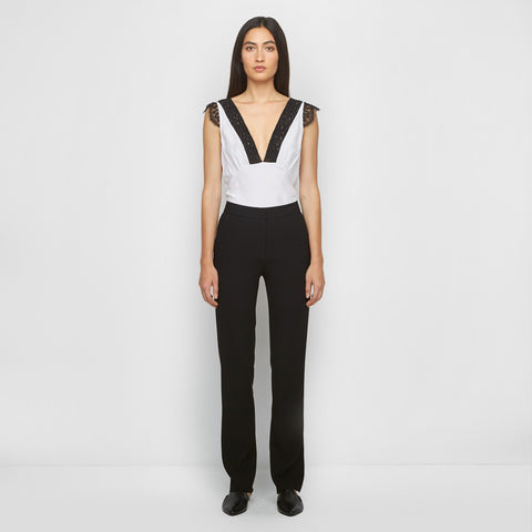 Crepe Slit Back Pant - Black - Final Sale