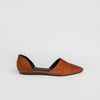D'Orsay Flat - Saddle Suede