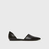 D'Orsay Flat - Black Leather